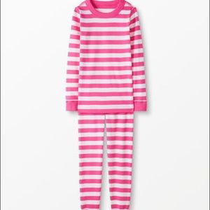 Hanna Andersson Hot Pink Striped Long John Pajamas